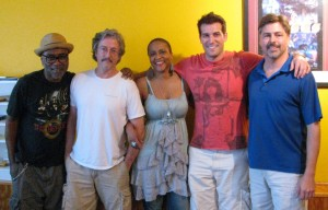 l to r: Kipper Jones, James Cobb (R2R engineer), Nadirah Shakoor, John Patti, Will MCPhaul (R2R engineer)